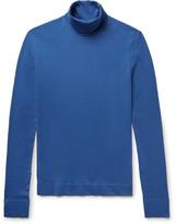 Calvin Klein Embroidered Cotton-Jersey Rollneck Sweater