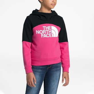 The North Face Metro Logo Pullover Hoodie Sweatshirt - Mr. Pink