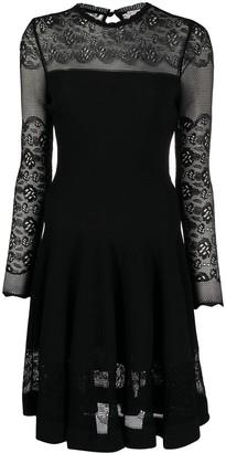 Alexander McQueen Ottoman-knit mini dress