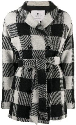 Woolrich Check Double-Breasted Coat