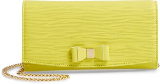 Ted Baker Zea Bow Matinee Leather Crossbody Clutch