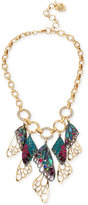 Betsey Johnson Two-Tone Pavé Butterfly Wing Statement Necklace