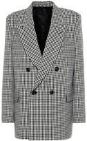 Ami Checked wool-blend blazer