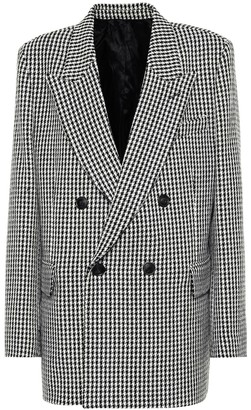 Ami Checked wool-blend blazer