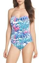 Tommy Bahama Women's Majorelle Underwire Bandeau One-Piece Swimsuit