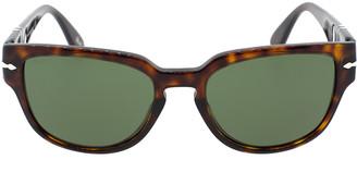 Persol Havana and Green Acetate Sunglasses
