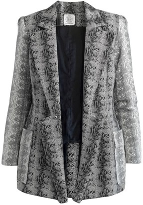 Cleo Prickett Dual Tailored Jacket In 100% Wool Snakeskin Jacquard From Savile Row