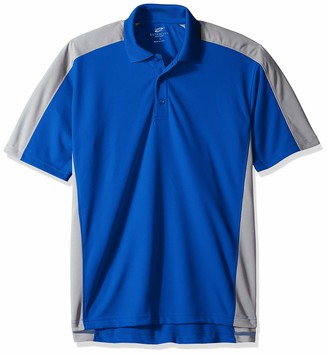 Clementine UltraClubs Men's ULTC-8447-Cool & Dry Stain-Release 2-Tone Performance Polo