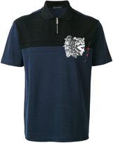 Versace emperor print polo shirt