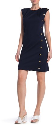 Trina Turk First Class Button Detail Dress