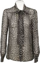 Michael Kors Black Panther Print Blouse
