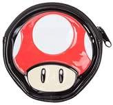 Bioworld Nintendo Super Mario Bros. Women's Mushroom Shaped Zipped Coin Pouch Purse, 12 cm, Red