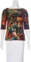 Erdem Silk Floral Print Top