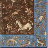 Drakes Unicorn Wool Pocket Square