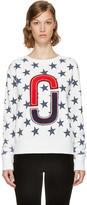 Marc Jacobs Ivory 90s Star Sweatshirt