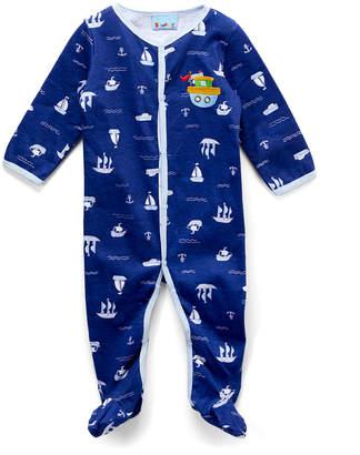 Sweet & Soft Boys' Footies Navy - Navy Submarine Footie - Newborn & Infant