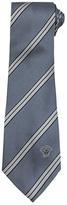 Versace Grey, Black & White Striped Silk Tie