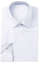 Bugatchi Solid Check Shaped Fit Dress Shirt