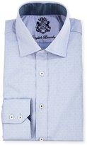English Laundry Pin-Dot Long-Sleeve Dress Shirt, Blue