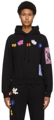 McQ Black Flower Embroidery Athena Hoodie