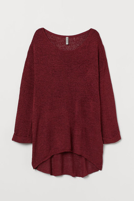 H&M Loose-knit Sweater - Red