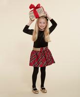 Dollie & Me Black & Red Plaid Skater Dress & Doll Dress - Girls