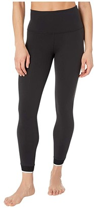 Beyond Yoga Crossed For Words High Waisted Midi Leggings (Jet Black) Women's Casual Pants