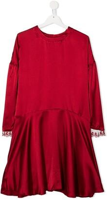 Chloé Kids TEEN silk shift dress