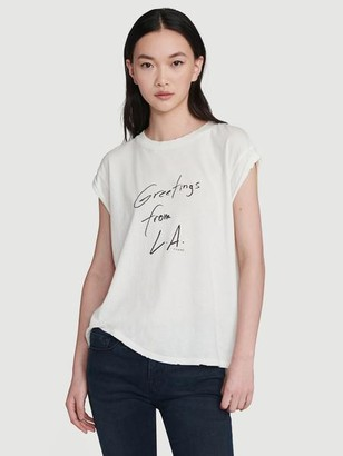Frame Slouchy Rolled Tee