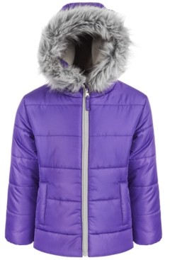 S. Rothschild Toddler Girls Quilted Puffer Coat