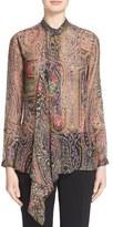 Etro Women's Ruffle Paisley Print Blouse