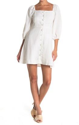 Amuse Society Raya Short Sleeve Woven Dress