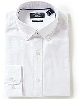 Original Penguin Heritage Slim-Fit Button-Down Collar Solid Oxford Dress Shirt