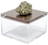 Mapleton Drive Metallic Gem Box with Pyrite