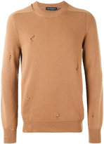 Alexander McQueen distressed jumper - men - Cashmere - M