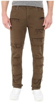 Publish Ogden - Classic Fit Brushed Stretch Twill Pants with Ripped and Repaired Details