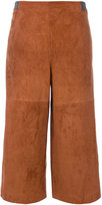 Fabiana Filippi high waisted cropped trousers - women - Suede/Polyamide/Spandex/Elastane/Polybutylene Terephthalate (PBT) - 42