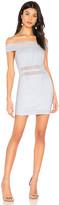 superdown Meghan Mesh Stripe Dress