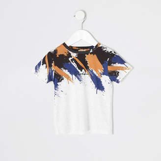 River Island Mini boys white Prolific print T-shirt