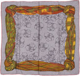 One Kings Lane Vintage Lanvin Gray Tartan Scarf