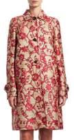 Valentino Flower Circle Gunny Jacquard Coat