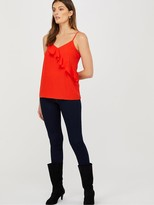 Monsoon Bella Frill Cami - Red