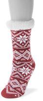 Muk Luks Women's Snowflake Cabin Crew Socks