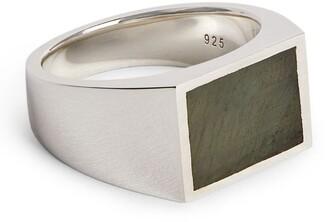M. Cohen Labradorite Square Ring