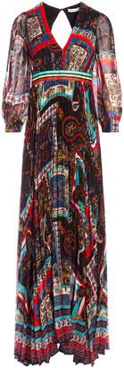 Alice + Olivia Cheney Slit Sleeve Maxi Dress