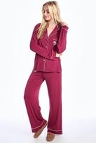 Wildfox Couture Buona Notte Classic Pajama Set in Bordeaux