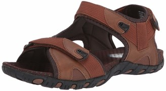 Nunn Bush Men's Rio Bravo Three Strap Outdoor Sport River Sandal with Hook and Loop Closure