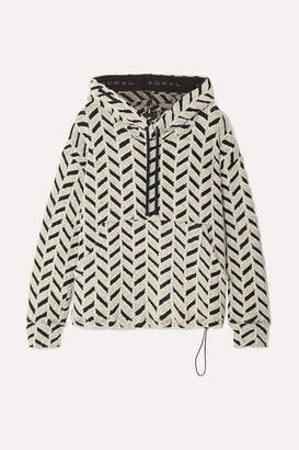 Koral Friley Cotton-blend Boucle Hoodie - White