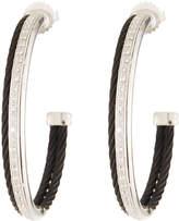 Alor Noir Diamond Hoop Earrings, Black