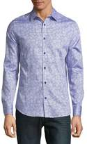 Karl Lagerfeld Printed Button-Down Shirt